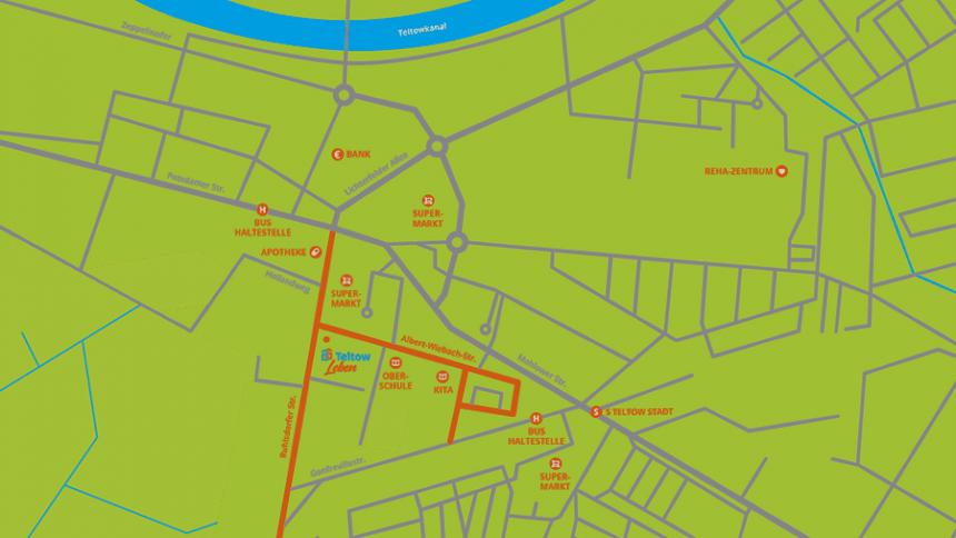 Karte Teltow